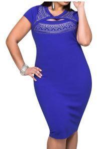 Curvaceous Cutout Foil Print Bodycon Dress