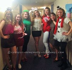 Super-Easy All-Girl Group Holidays Costumes: New Year's Eve, Valentine's Day, St. Patrick's Day, Easter, 4th of July, Thanksgiving and Christmas Costumes!