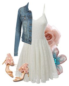 """""""Floral Spring Dress Look"""" by le3noclothing ❤ liked on Polyvore featuring Tarina Tarantino, Accessorize, LE3NO, Rupert Sanderson, women's clothing, women, female, woman, misses and juniors"""