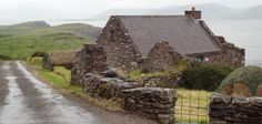 Ireland: Co. Kerry. One of the cottages of the Cill Rialaig Project, a village for artists and authors far out on the end of the Kerry (Iveragh) peninsula. Photo by Joe Gannon Editor: The Wild Geese.