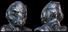 ArtStation - Sci-Fi Helmet - by Jonathan BENAINOUS, Jonathan BENAINOUS
