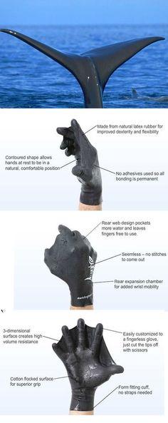Darkfin Gloves by Darkfin #Biomimesis #Biomimetica #Biomimicry