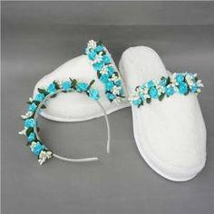 Mavi çiçekli Lohusa Tacı Lohusa Terliği GittiGidiyor'da 283139198 Erkek bebek anneleri