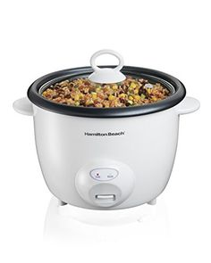 Hamilton Beach 10-Cups uncooked resulting in 20-Cups Cooked Capacity Rice Cooker, White (37532N)