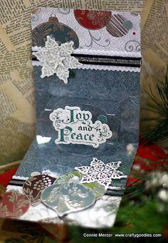 Clear Scraps Pop n' Cut  Christmas card~
