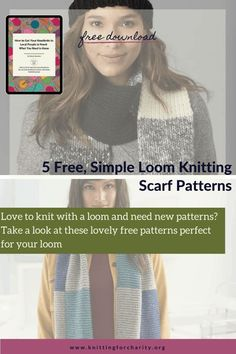 Love to knit with a loom and need new patterns? Take a look at these lovely free patterns perfect for your loom - Knitting for Charity Loom Knitting Scarf, Knifty Knitter, Knitting Stitches, Free Knitting, Love Knitting Patterns, Scarf Patterns, Circular Loom, Knitting For Charity, Fiber