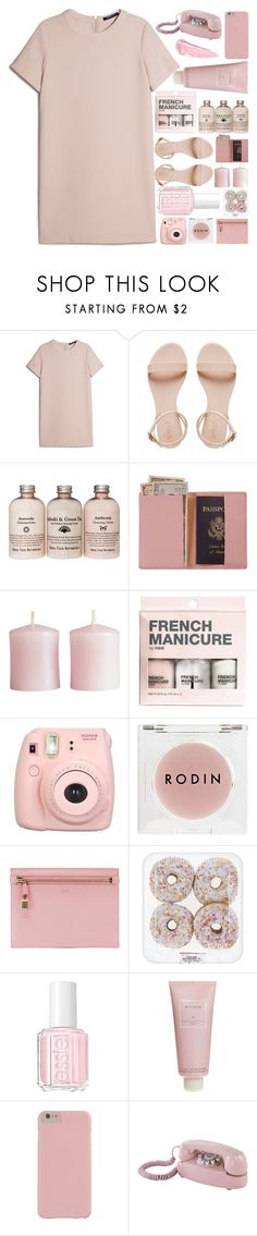 """""""Untitled #73"""" by kazuichi ❤ liked on Polyvore featuring MANGO, Royce Leather, H&M, Rodin Olio Lusso, Tom Ford, Essie, Chantecaille, Dot & Bo, By Terry and Pink"""