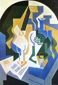 Cubismo - Juan Gris: Guitarra y mandolina, 1919, Galerie Beyeler, Basilea.