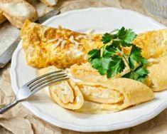 Omelette légère roulée au fromage