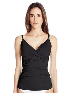 Calvin Klein Women's Twist Tankini with Sewn In Soft Cups and Tummy Control * This is an Amazon Affiliate link. Check out the image by visiting the link.