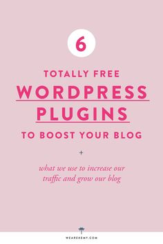 Learn what the BEST plugins to boost your blog are. We'll walk you through how you can increase your traffic with simple and totally free Wordpress Plugins. - We Are Kemy