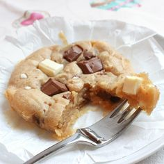 Single-serving peanut butter cookie cake - eggless and super fudgy! (in Italian w/ English translation) :)