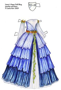 Steamy costume idea - note the different shades of blue on the ruffles, and the amount of ruffles.