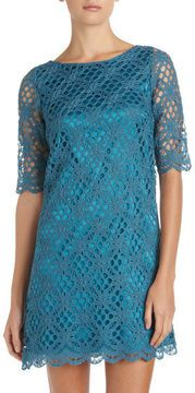 JAX A-line Crochet Dress, Turquoise at ShopStyle