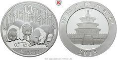 RITTER China, 10 Yuan 2013, Pandas, st #coins