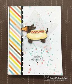 Bildresultat för doxie stamp christmas card