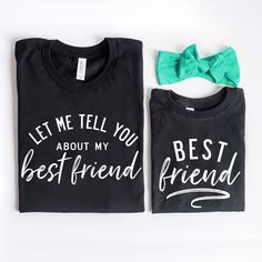 Mommy and Me Shirts Best Friend Shirts Set of 2 Mother Sibling Shirts, Sister Shirts, Shirts For Girls, Kids Shirts, Mom Of Girls Shirts, Sibling Poses, Baby Outfits, Mommy And Me Outfits, Kids Outfits