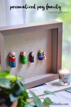A personalized peg family is super easy and a fantastic gift idea for a family Christmas gift. The tutorial is easy to follow even for those that don't do crafts.