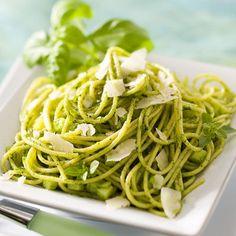 Découvrez la recette Spaghettis au pistou sur cuisineactuelle.fr.