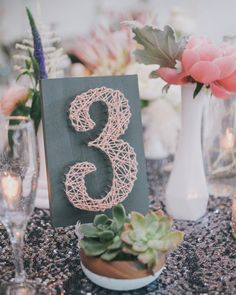 Love this string art table number!!!   ||  Product & Wedding Photographer with an eye for detail and a love of parties. Based in San Francisco, Napa, Sonoma... wedding photography of the old, the new, the artful, the vintage, the natural, the rustic, the modern, unique, fresh, whimsical, romantic and quirky.