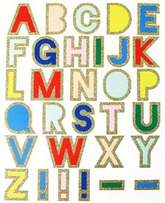 Stickers Glitter Alphabet