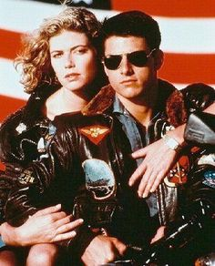 My all time no. 1 Movie:  Top Gun. Tom Cruise on Motorcycle with Kelly. Aviator sunglasses. Bomber jacket.