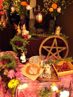 The Altar and the sorted things thereupon. The Untiy candle was pewtered by my mom. image taken by Wirld (Grant Collier) [link] Handfasting 04 The Altar Wicca Witchcraft, Pagan Witch, Wiccan, Green Witchcraft, Gypsy Witch, Beltaine, Pagan Altar, Sabbats, Handfasting