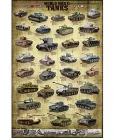 WWII Tanks Poster 36in x 24in