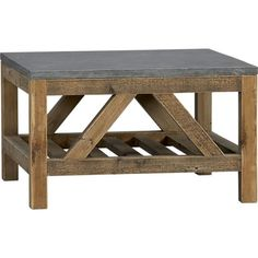 Bluestone Coffee Table in Side, Coffee Tables   Crate and Barrel