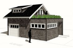 The Salt Spring – LWH Temp Laneway base template for a 33' lot.  500sf 1 bedroom Indoor parking