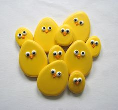 sweet easter egg chicken cookies