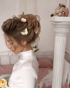 Shaggy Blonde Waves - 40 Picture-Perfect Hairstyles for Long Thin Hair - The Trending Hairstyle Box Braids Hairstyles, Bride Hairstyles, Hairstyle Braid, Wedding Braids, Hairstyle Wedding, Long Thin Hair, Plum Hair, Hair Up Styles, Short Hair Updo