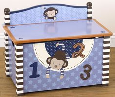CoCaLo Baby Monkey Mania Toy Box - casa.com