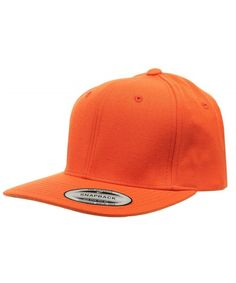 3964e42eec469 Original Yupoong Pro-style Wool Blend Snapback Blank Hat Baseball Cap-  Orange CC1181RMS3X