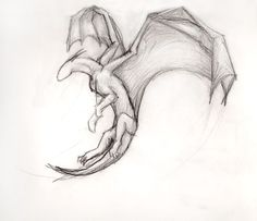 animal drawings sketches Simple Flying Dragon by ThousandWordsToSay Simple Dragon Drawing, Cool Dragon Drawings, Dragon Sketch, Easy Drawings, People Drawings, Pencil Drawings, Drawings Of Dragons, Simple Animal Drawings, Cool Simple Drawings