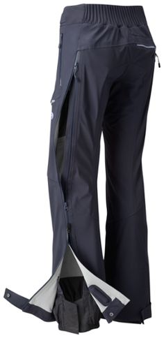The Mountain Hardwear BoundarySeeker snow pants deliver the goods. Ski Pants, Harem Pants, Narrow Hips, Dark Blue Grey, Mountain Hardwear, Body Heat, Cold Day, Hand Warmers, Skiing