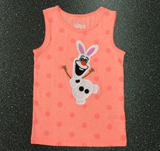 SAMPLE SALECustom Boutique Olaf the Easter Bunny Bright Orange Tank by littlehcdesigns now at http://ift.tt/2DqQte2