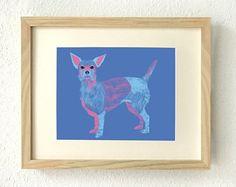 Dog gifts for women, home decor, Chihuahuas, Chihuahua, Chihuahua dog art, Chihuahua lover gift, Wall art, Dog art, Chihuahua mom, Art print