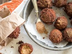 Guest Post by Caroline Potter – Cider Mill Donut Holes, from The All-American Paleo Table - The Paleo Mom Cider Mill Donuts Recipe, Apple Cider Donuts, Donut Recipes, Apple Recipes, Sweet Recipes, Vegan Recipes, Gluten Free Recipes For Breakfast, Paleo Breakfast, Paleo Sweets