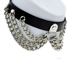 HINK Necklaces /& Pendants Punk Gothic Wide Leather O Ring Collar Choker Necklace Women Women Jewellery Easter Gifts Sale