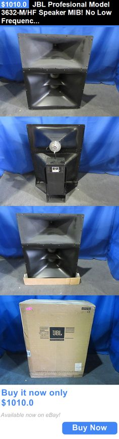 Vintage Speakers: Jbl Profesional Model 3632-M/Hf Speaker Mib! No Low Frequency BUY IT NOW ONLY: $1010.0