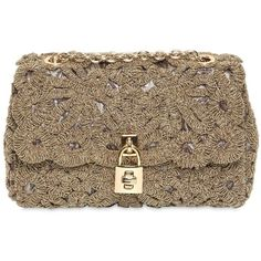 DOLCE & GABBANA Lurex Lace Dolce Bag - Gold and other apparel, accessories and trends. Browse and shop 13 related looks.