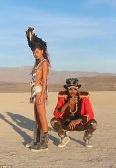 The couple at the Burning Man festival in Nevada, one of the key inspirations for their brand