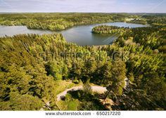 Stock Photo: Finnish national landscape view at Aulanko nature park in Finland. -