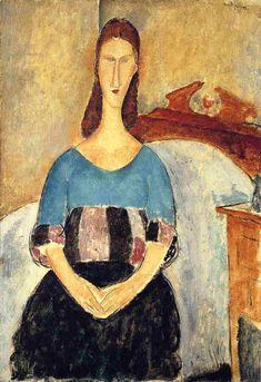 Jeanne Hebuterne, 1919, 54 x 38 cm, Oil on Canvas