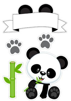 Para mi fiesta Panda Party, Panda Birthday Party, Bear Party, Birthday Diy, Girl Birthday, Birthday Cartoon, Diy Gifts Sister, Bolo Panda, Panda Decorations