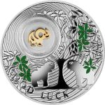 Niue 2014 1$ Elephant Symbols of Luck 1/2 Oz Proof Silver Coin