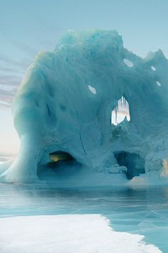 Iceberg in the Straits of Atlantis below the Northern Mountains, between the outer ring of the continent and the Isle of Capricorn
