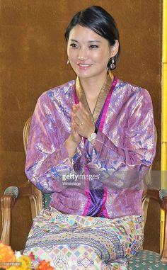 Queen Jetsun Pema of Bhutan attends the Japan Bhutan friendship reception at the New Otani Hotel...