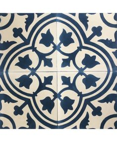 Our stock Trinidad Marine Encaustic Cement Tile are a wonderful addition to our Trinidad floral pattern range, using a rich marine blue on a white background , it embraces the Victorian and Edwardian classical style to enhance any modern or contemporary kitchen floor or bathroom wall. This floral tiles can be used with our single tone range for a truly unique floor or wall covering. #trinidad #encaustictiles #moroccantiles #floraltiles